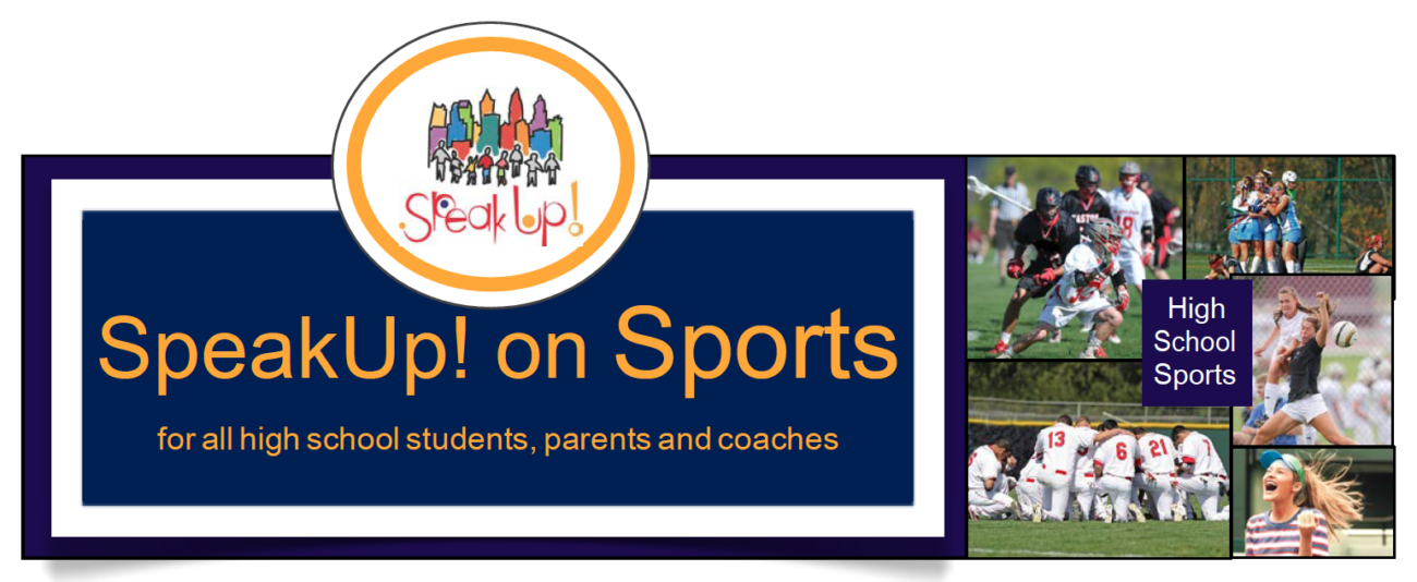 speak up on sports logo