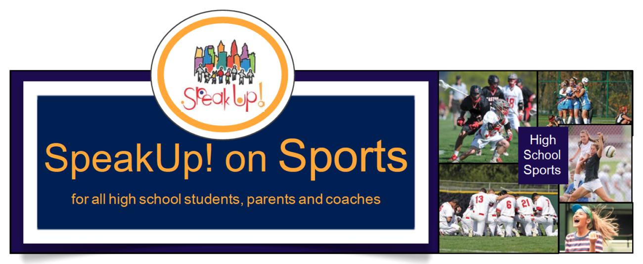 speak up on sports logo